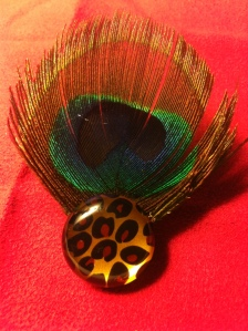 upcycled brooch